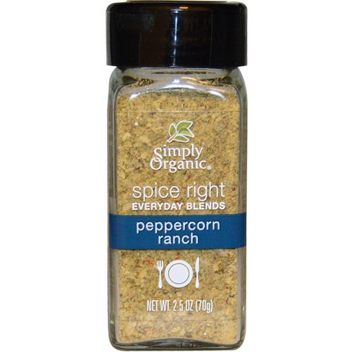 Simply Organic, Organic Spice Right Everyday Blends, Peppercorn Ranch, 2.2 oz (70 g) Review