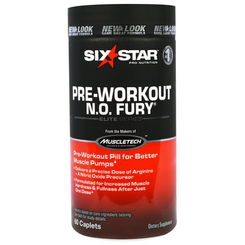 Six Star, Six Star Pro Nutrition, Pre-Workout, N.O. Fury, Elite Series, 60 Caplets Review