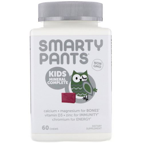 SmartyPants, Kids Mineral Complete, Multimineral, Mixed Berry, 60 Chews Review