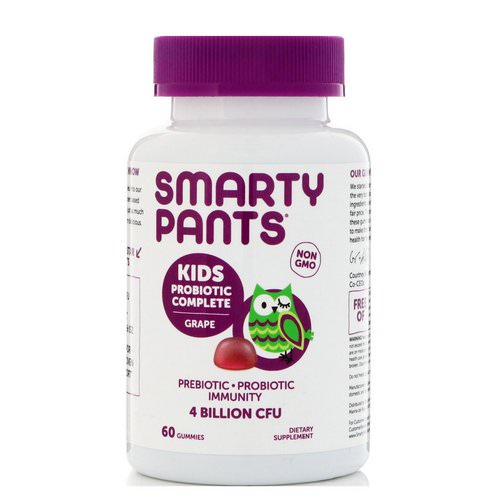 SmartyPants, Kids Probiotic Complete, Grape, 60 Gummies Review