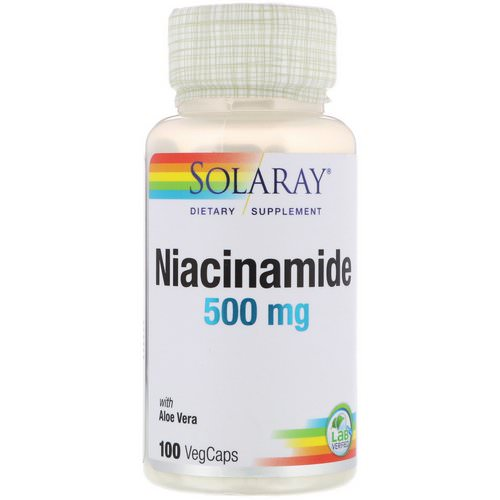 Solaray, Niacinamide, 500 mg, 100 VegCaps Review