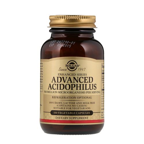 Solgar, Advanced Acidophilus, 100 Vegetable Capsules Review