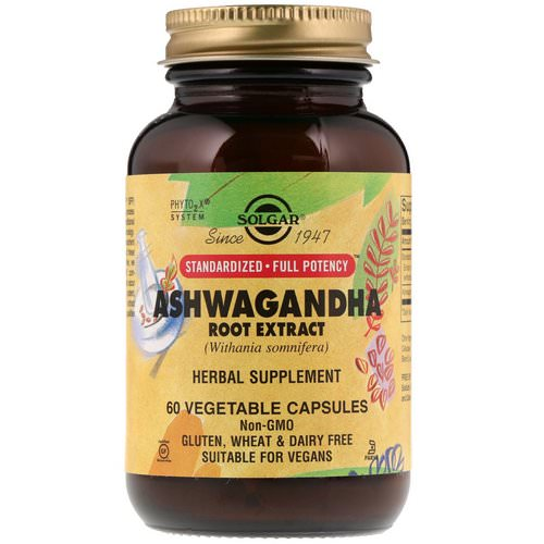 Solgar, Ashwagandha Root Extract, 60 Vegetable Capsules Review