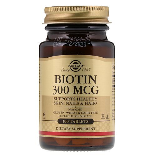Solgar, Biotin, 300 mcg, 100 Tablets Review
