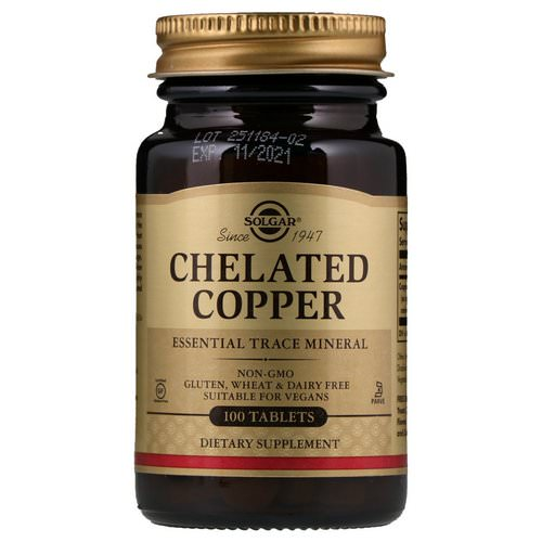 Solgar, Chelated Copper, 100 Tablets Review