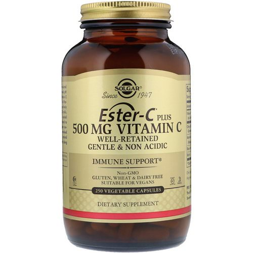Solgar, Ester-C Plus, Vitamin C, 500 mg, 250 Vegetable Capsules Review