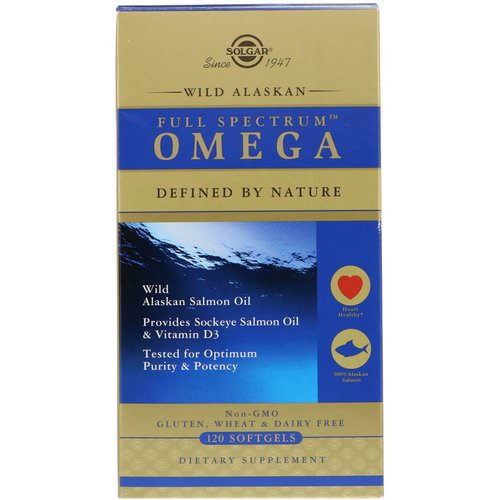Solgar, Full Spectrum Omega, Wild Alaskan Salmon Oil, 120 Softgels Review