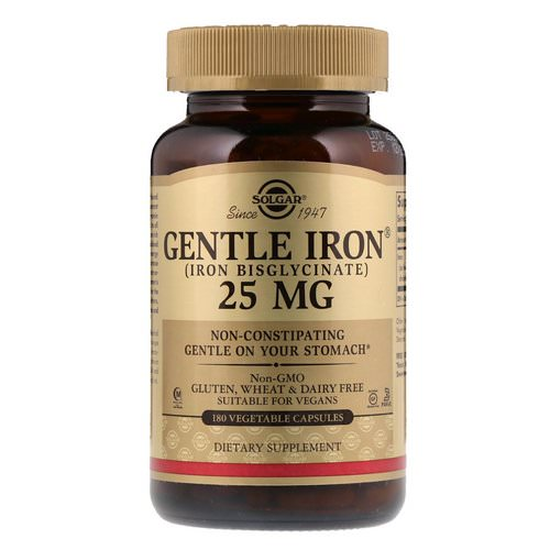 Solgar, Gentle Iron, 25 mg, 180 Vegetable Capsules Review