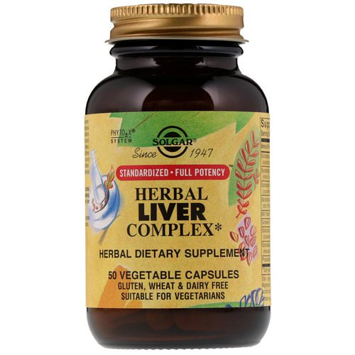 Solgar, Herbal Liver Complex, 50 Vegetable Capsules Review