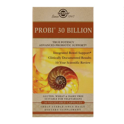 Solgar, Probi 30 Billion, 30 Vegetable Capsules Review