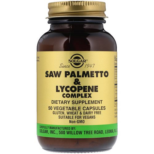 Solgar, Saw Palmetto & Lycopene Complex, 50 Vegetable Capsules Review
