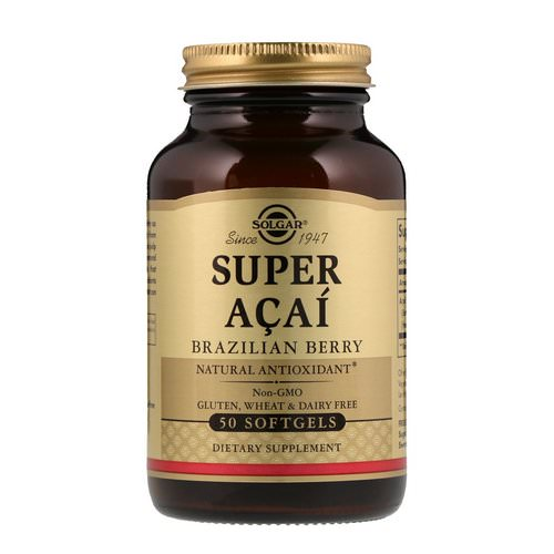 Solgar, Super Acai, Brazilian Berry, 50 Softgels Review