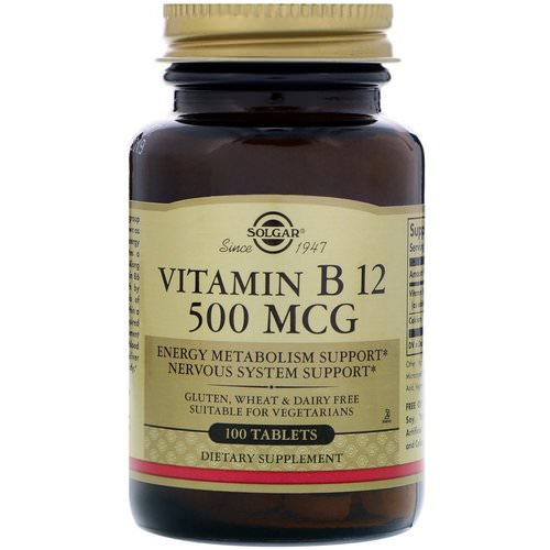 Solgar, Vitamin B12, 500 mcg, 100 Tablets Review