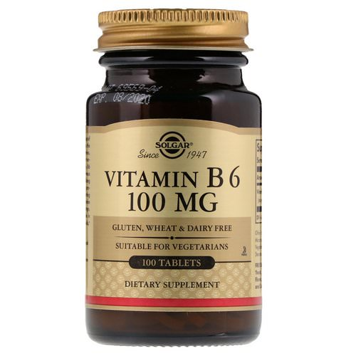 Solgar, Vitamin B6, 100 mg, 100 Tablets Review