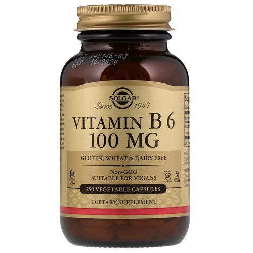 Solgar, Vitamin B6, 100 mg, 250 Vegetable Capsules Review
