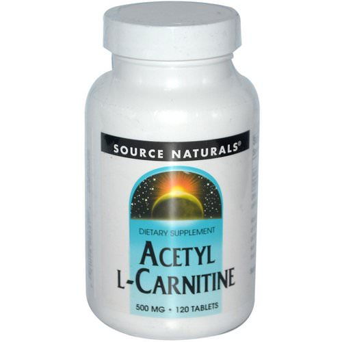 Source Naturals, Acetyl L-Carnitine, 500 mg, 120 Tablets Review