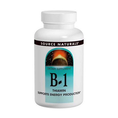 Source Naturals, B-1, Thiamin, 100 mg, 100 Tablets Review