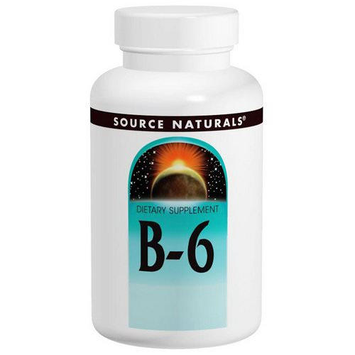 Source Naturals, B-6, 100 mg, 100 Tablets Review