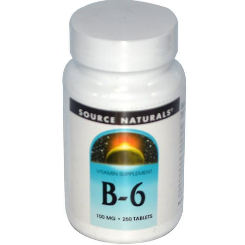 Source Naturals, B-6, 100 mg, 250 Tablets Review