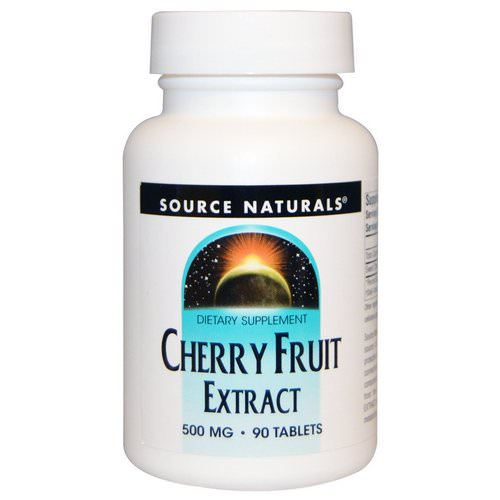 Source Naturals, Cherry Fruit Extract, 500 mg, 90 Tablets Review