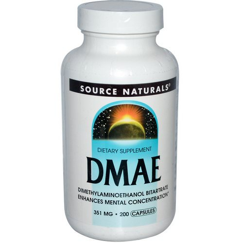Source Naturals, DMAE, 351 mg, 200 Capsules Review