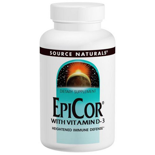 Source Naturals, EpiCor with Vitamin D-3, 500 mg, 30 Capsules Review