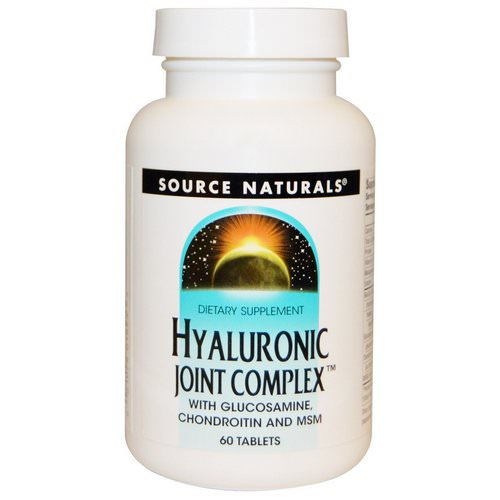 Source Naturals, Hyaluronic Joint Complex, 60 Tablets Review