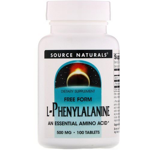 Source Naturals, L-Phenylalanine, 500 mg, 100 Tablets Review