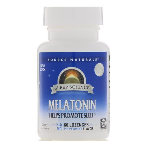 Source Naturals, Melatonin, Peppermint, 2.5 mg, 60 Lozenges Review