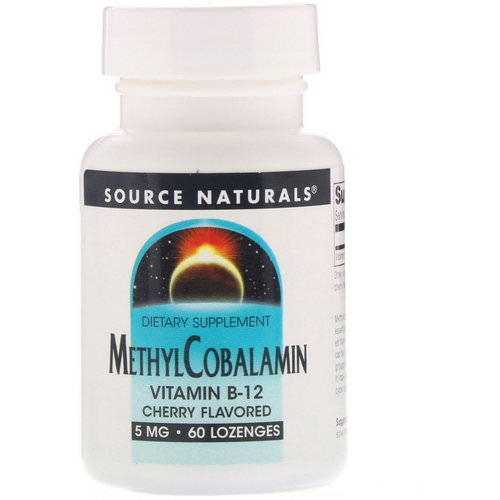Source Naturals, MethylCobalamin, Vitamin B12, Cherry Flavored, 5 mg, 60 Lozenges Review