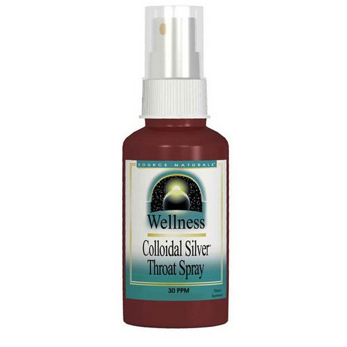 Source Naturals, Wellness, Colloidal Silver Throat Spray, 30 PPM, 2 fl oz (59.14 ml) Review