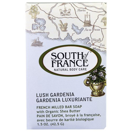 South of France, French Milled Bar Soap with Organic Shea Butter, Lush Gardenia, 1.5 oz (42.5 g) Review