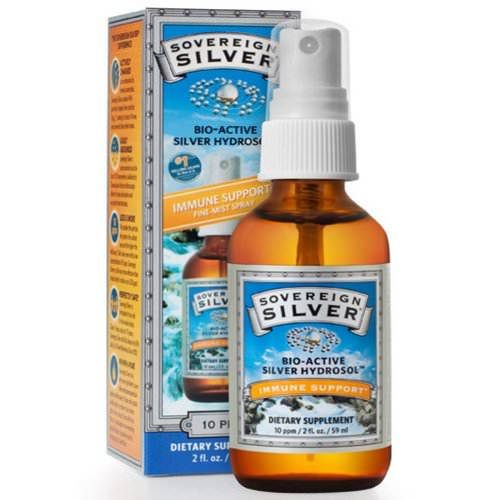 Sovereign Silver, Bio-Active Silver Hydrosol, Immune Support, Fine-Mist Spray, 10 ppm, 2 fl oz (59 mL) Review