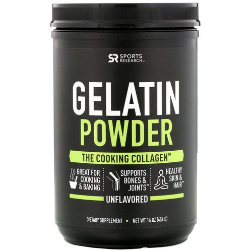Sports Research, Gelatin Powder, Unflavored, 16 oz (454 g) Review