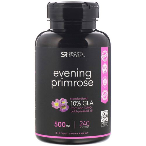 Sports Research, Evening Primrose, 500 mg, 240 Softgels Review