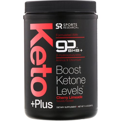 Sports Research, Keto Plus, GO BHB, Cherry Limeade, 11.4 oz (324 g) Review