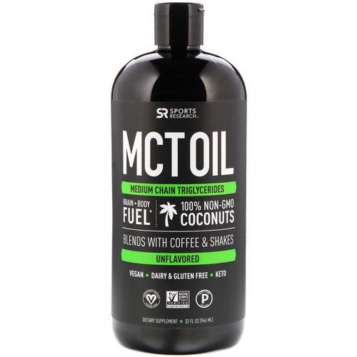 Sports Research, MCT Oil, Unflavored, 32 fl oz (946 ml) Review