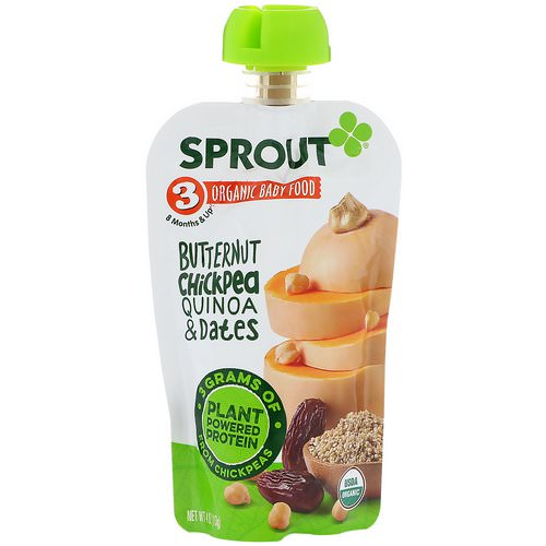 Sprout Organic, Baby Food, Stage 3, Butternut Chickpea, Quinoa & Dates, 4 oz (113 g) Review