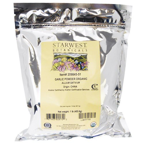 Starwest Botanicals, Organic Garlic Powder, 1 lb ( 453.6 g) Review