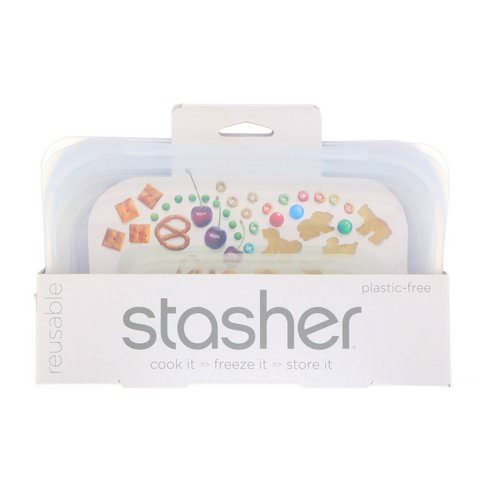 Stasher, Reusable Silicone Food Bag, Snack Size Small, Clear, 9.9 fl oz (293.5 ml) Review