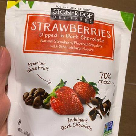 Stoneridge Orchards Strawberries Chocolate - 糖果, 巧克力, 草莓, 超級食品