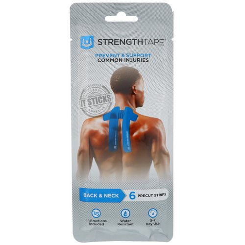 Strengthtape, Kinesiology Tape, Back & Neck, 6 Precut Strips Review