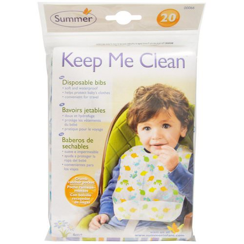 Summer Infant, Keep Me Clean, Disposable Bibs, 20 Bibs Review