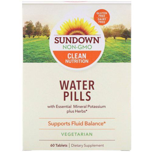 Sundown Naturals, Water Pills, 60 Tablets Review