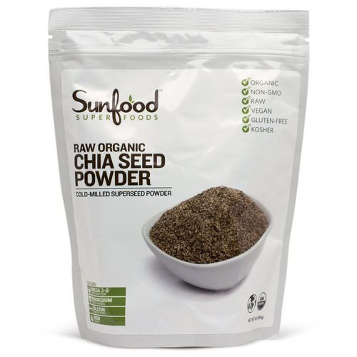 Sunfood, Chia Seed Powder, Raw Organic, 1 lb (454 g) Review