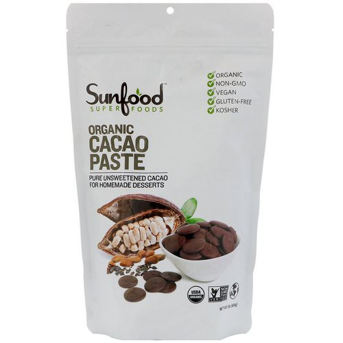 Sunfood, Organic Cacao Paste, 1 lb (454 g) Review