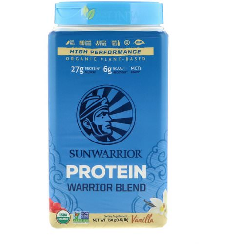 Sunwarrior, Warrior Blend Protein, Organic Plant-Based, Vanilla, 1.65 lb (750 g) Review