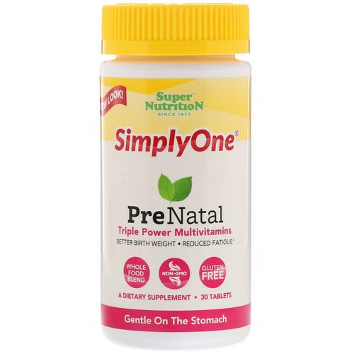 Super Nutrition, SimplyOne, PreNatal, Triple Power Multivitamin, 30 Tablets Review