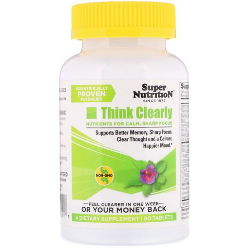 Super Nutrition, Think Clearly, 90 Tablets Review