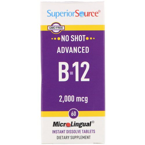 Superior Source, Advanced B-12, 2,000 mcg, 60 MicroLingual Instant Dissolve Tablets Review
